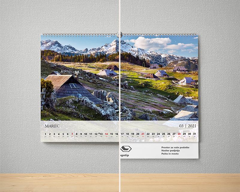dve verziji koledarja 2021 s popotnimi motivi