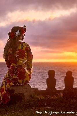 Zahod na Velikonocnem otoku