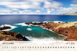 Koledar 2021 nas septembra popelje na Velikonočni otok.
